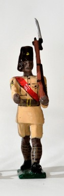White metal toy soldier from South Africa, 2005