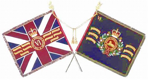Verzamelingen The Rhodesian African Rifles Regimental colours flag